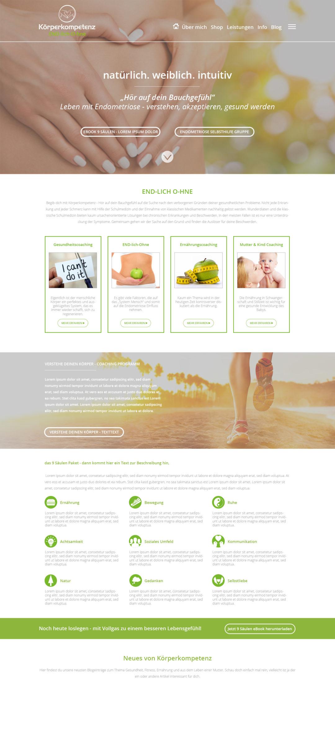 Körperkompetenzen Webdesign