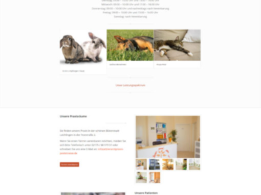 Tierarzt Homepage