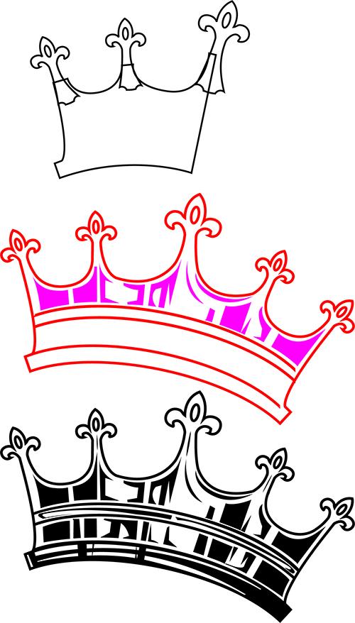Zeichnen der Kronen